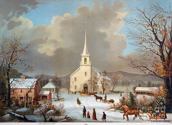 Painting - Winter Scene, C1875 by Granger