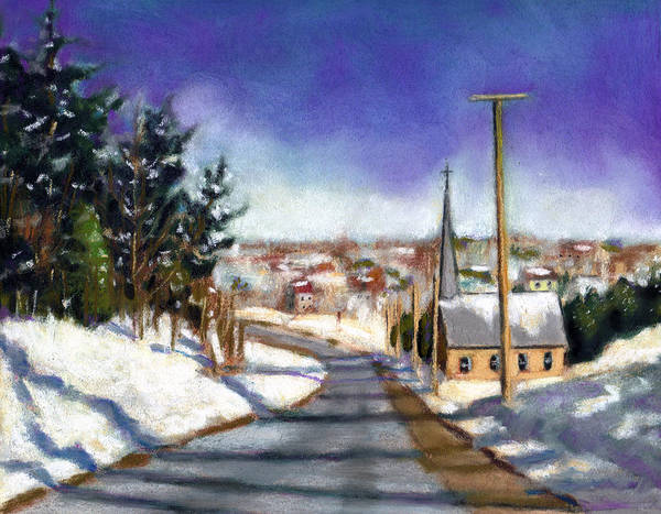 Wall Art - Pastel - Winter Scene With Church by Joyce Geleynse