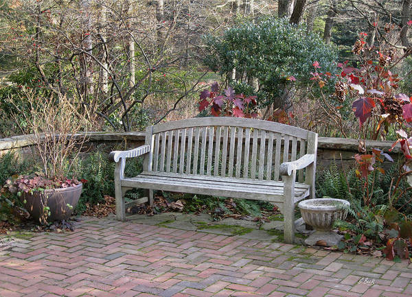 Longwood Gardens Photograph - Winter Seating by Gordon Beck