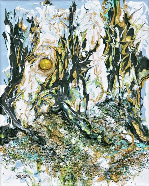 Wall Art - Mixed Media - Winter Shadows by Donna Blackhall