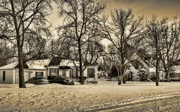 Neighborhood Photograph - Winter Snow by Ricky Barnard