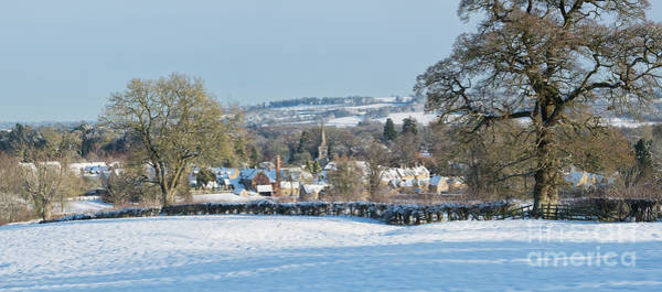Photograph -  Winter Snowfall Lower Slaughter by Tim Gainey