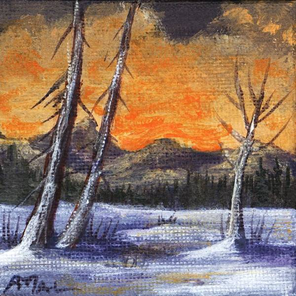 Painting - Winter Solitude #1 by Anastasiya Malakhova