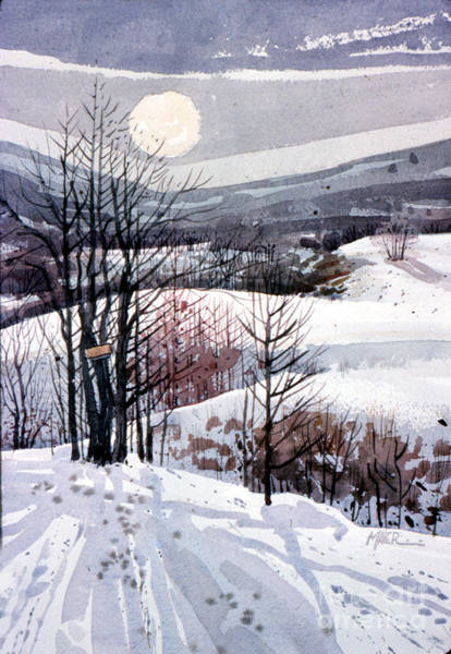 Snowscape Painting - Winter Solstice by Donald Maier