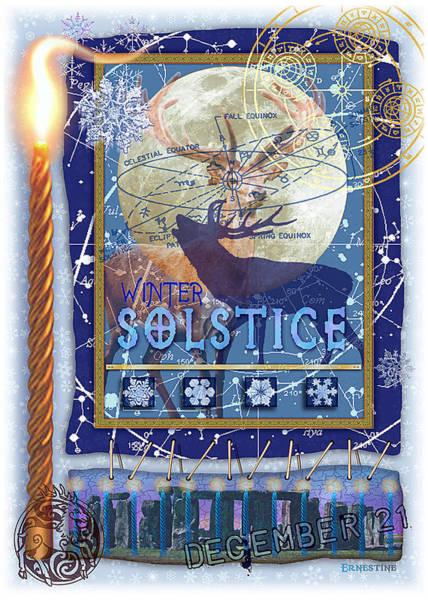 Pagan Wall Art - Digital Art - Winter Solstice by Ernestine Grindal