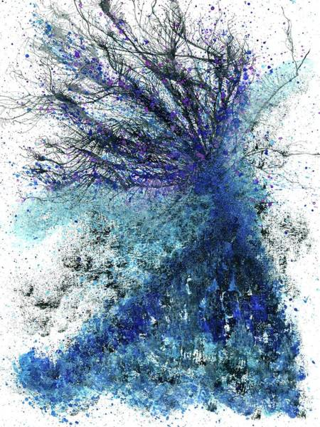 Brain Cell Painting - Winter Solstice In Antarctica #492 by Rainbow Artist Orlando L
