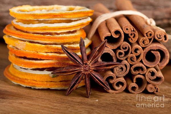 Orange Wood Photograph - Winter Spices by Nailia Schwarz