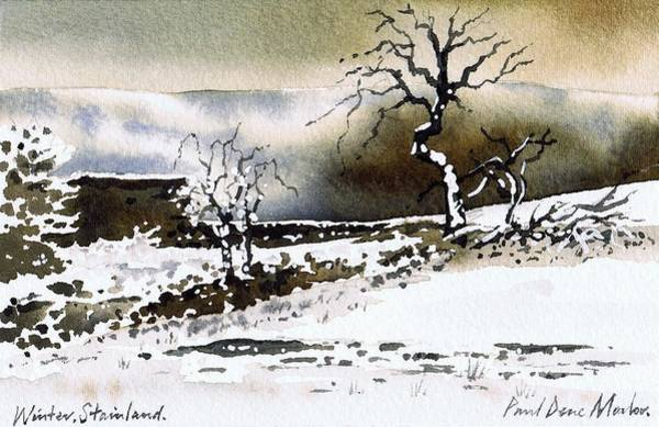 Wall Art - Painting - Winter Stainland by Paul Dene Marlor