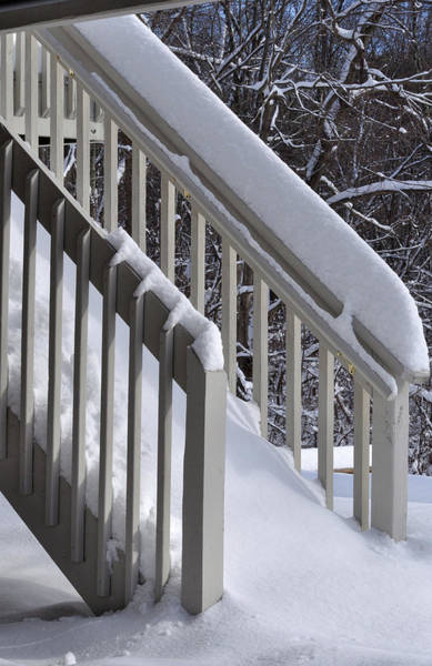 Photograph - Winter Stairs by Frank Mari