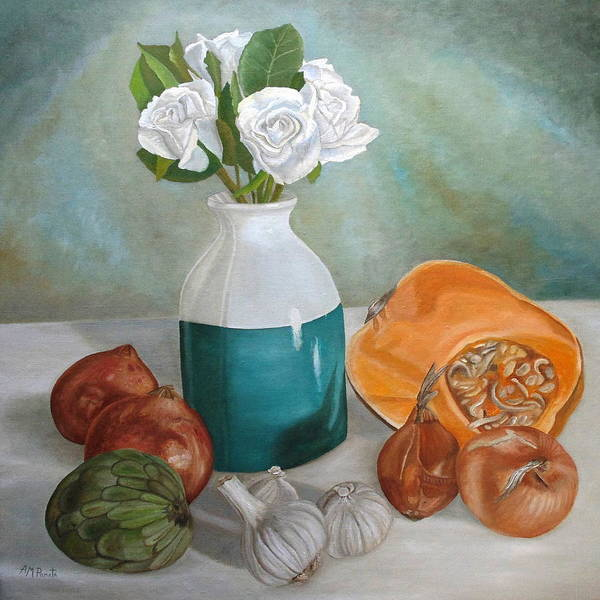 Painting - Winter Still Life by Angeles M Pomata