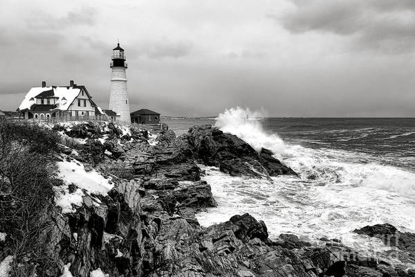 Photograph - Winter Storm At Portland Head by Olivier Le Queinec