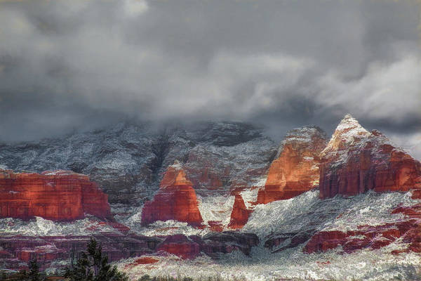 Wall Art - Photograph - Winter Storm In Sedona by Donna Kennedy