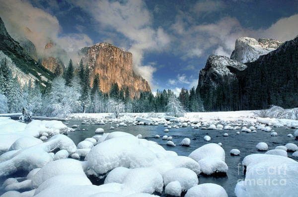 Photograph - Winter Storm In Yosemite National Park by Dave Welling