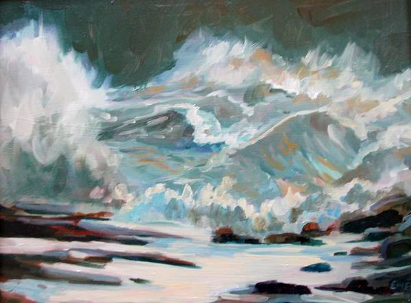 Wall Art - Painting - Winter Storm by Linda Emerson