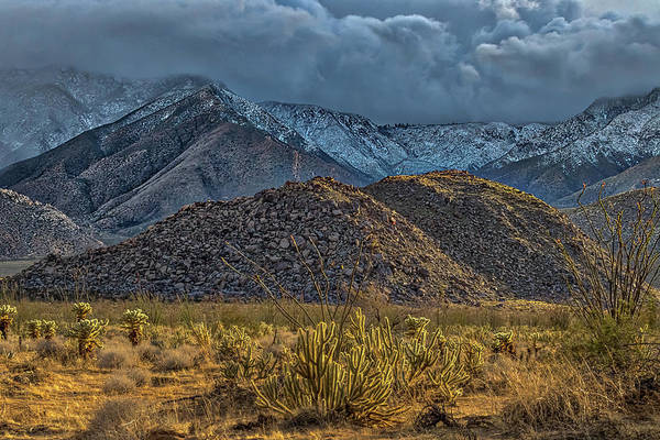 Laguna Mountains Photograph - Winter Storm To The Desert Floor by Peter Tellone