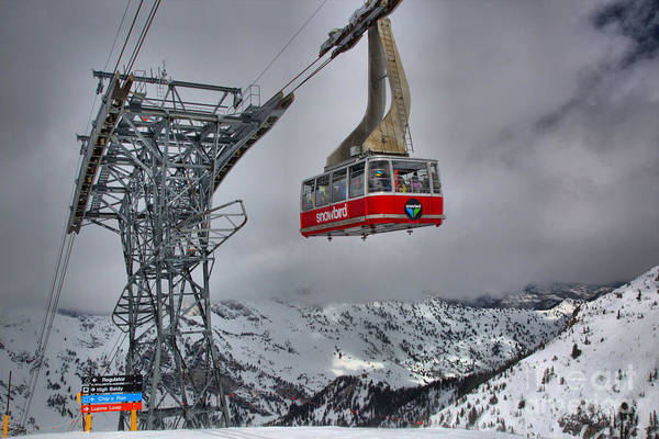 Photograph - Winter Storms At The Snowbird Tram by Adam Jewell