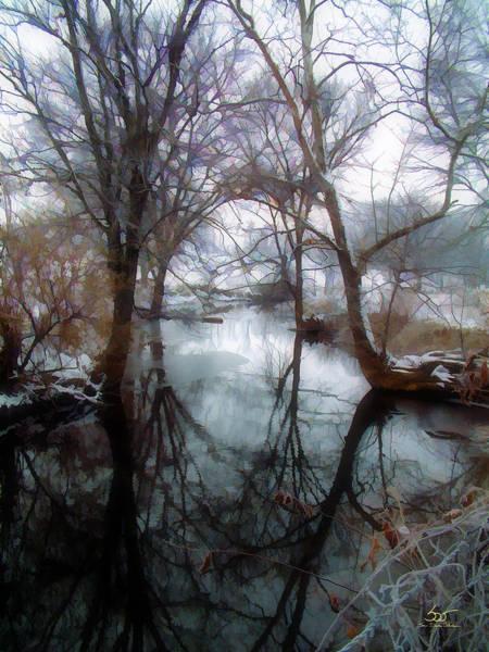 Photograph - Winter Stream 2 by Sam Davis Johnson