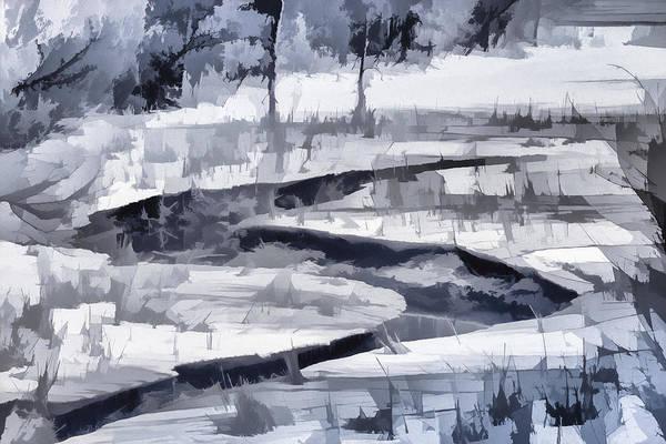 Wall Art - Photograph - Winter Stream by Michel Emery