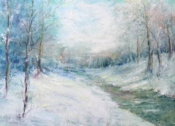 Painting - Winter Stream by Robin Miller-Bookhout