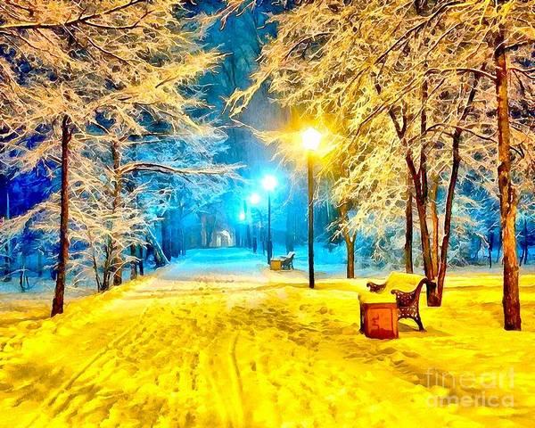 Painting - Winter Street by Catherine Lott