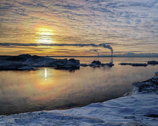 Photograph - Winter Sun Halo by Rod Best