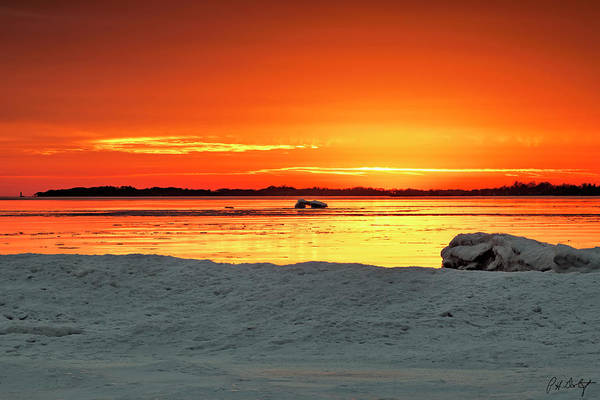 Great Lakes Region Wall Art - Photograph - Winter Sun Has Set by Phill Doherty