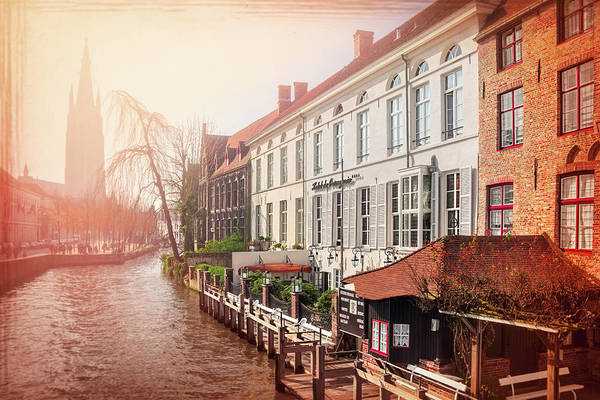 Belgian Photograph - Winter Sun In Bruges Belgium  by Carol Japp