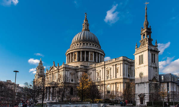 Photograph - Winter Sun St Paul's Cathedral by Gary Eason
