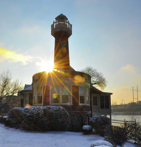 Photograph - Winter Sunrise At Turtle Rock Lighthouse by Bill Cannon