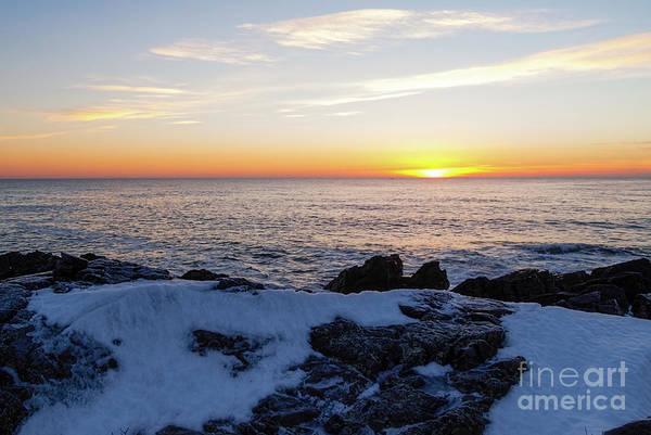 Photograph - Winter Sunrise, Ogunquit, Maine -20888 by John Bald