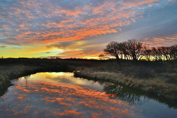 Photograph - Winter Sunrise On Nippersink Creek In Glacial Park by Ray Mathis