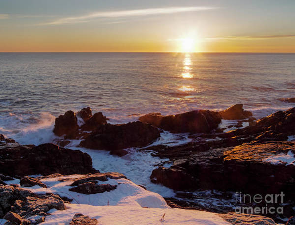 Photograph - Winter Sunrise On The Maine Coast  -20913-20915 by John Bald