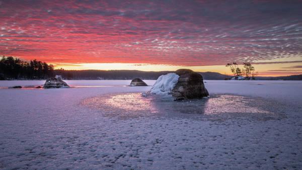 Winter Sunrise Over Moose Pond Art Print