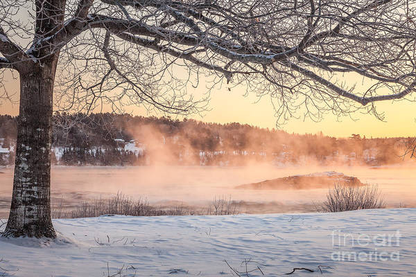 Photograph - Winter Sunrise, Taunton River by Susan Cole Kelly