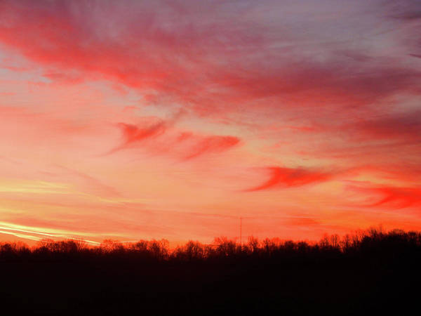 Photograph - Winter Sunset 2018 by Tina M Wenger