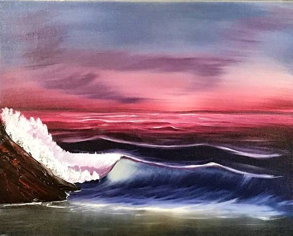 Wall Art - Painting - Winter Sunset At The Beach by Willy Proctor