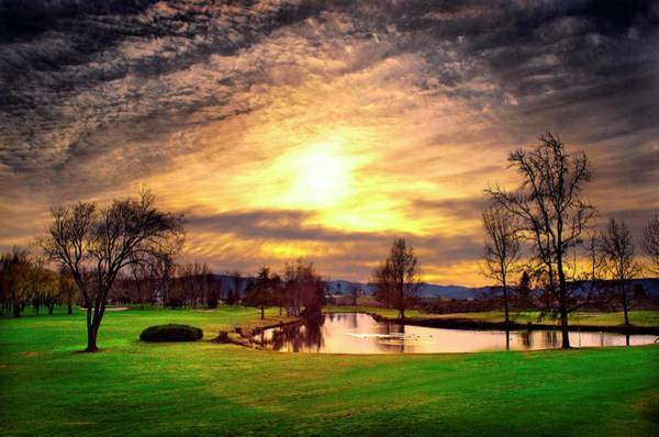 Rogue Valley Photograph - Winter Sunset At The White City Golf Course by Dale E Daniel Landscape Photography