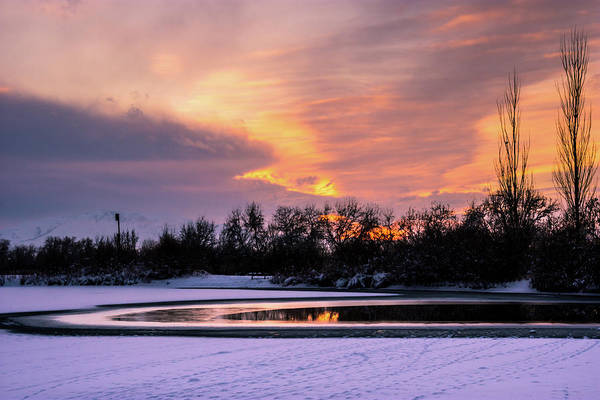Photograph - Winter Sunset by Bryan Carter