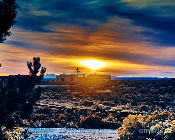 Photograph - Winter Sunset by Charles Muhle