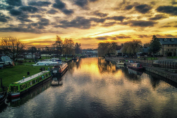 Photograph - Winter Sunset, Ely Riverside by James Billings