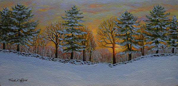 Wall Art - Painting - Winter Sunset by Frank Wilson