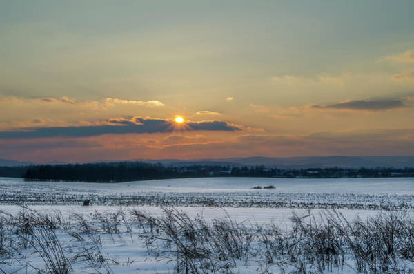 Photograph - Winter Sunset In Gettysburg by Bill Cannon