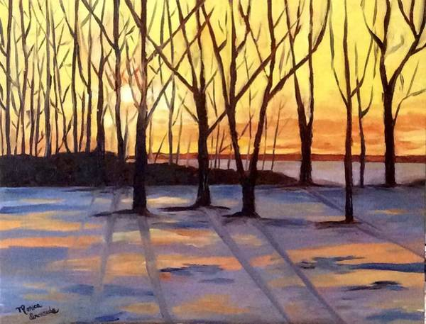 Painting - Winter Sunset by Monica Ironside