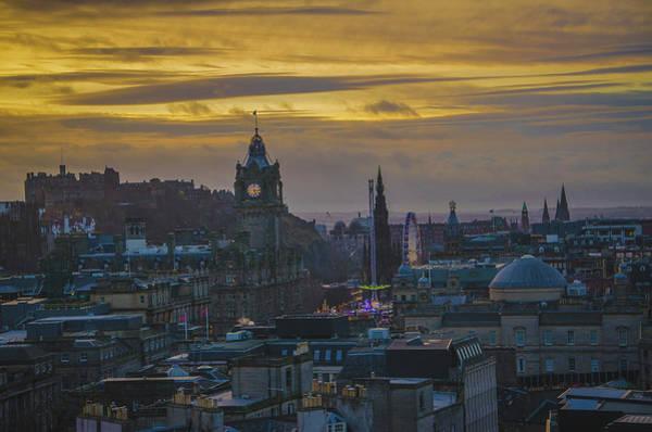 Photograph - Winter Sunset Over Edinburgh by Edyta K Photography