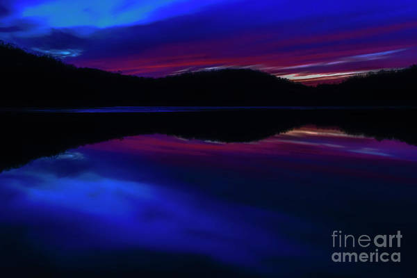 Photograph - Winter Sunset Radiant Afterglow by Thomas R Fletcher