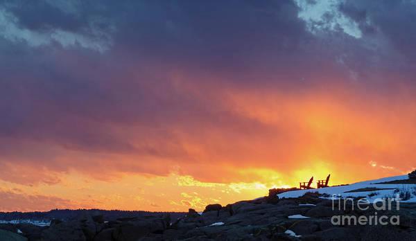 Photograph - Winter Sunset, York, Maine  -21031 by John Bald