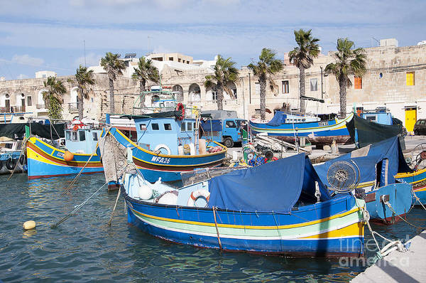 Photograph - Winter Sunshine In Marsaxlokk by Brenda Kean