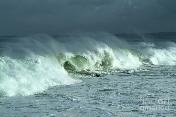 Photograph - Winter Surf On Monterey Bay by Charlene Mitchell