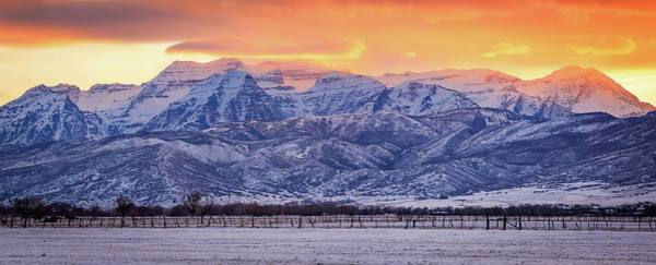 Photograph - Winter Timp Sunset Panorama by Johnny Adolphson