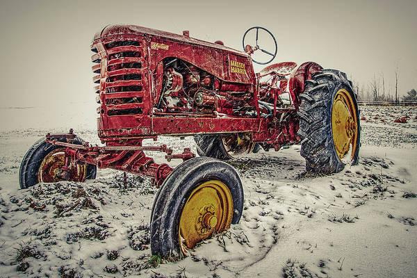 Photograph - Winter Tractor  by Bob Orsillo